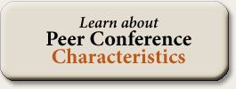 Learn about Peer Conference Characteristics
