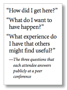 conference attendees satisfy curiosity Three questions