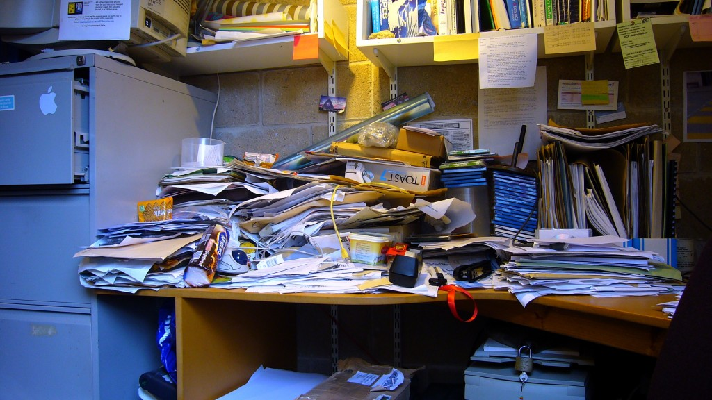 messy desk - harryharris - 300782460_bafaba2776_o