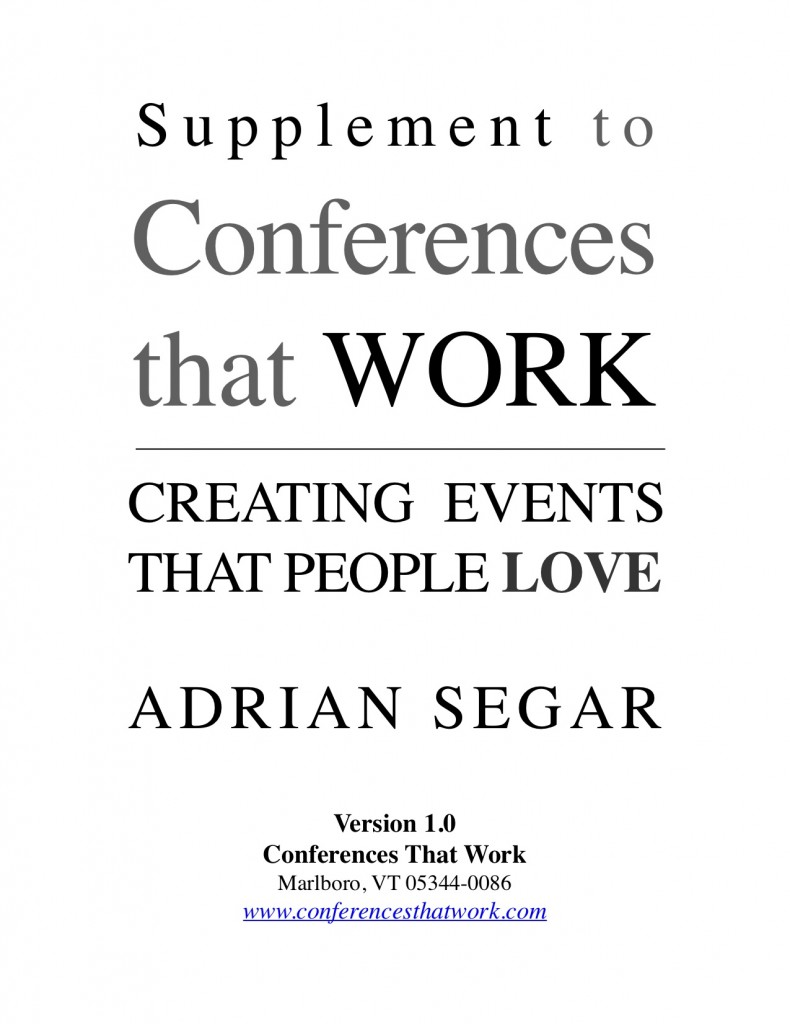 Conferences That Work supplement cover