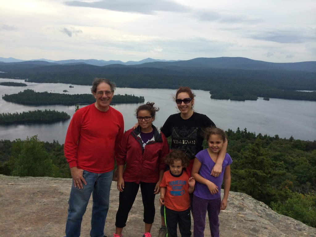 Adrian, Cara and grandkids on the top of Castle Rock