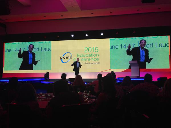 On the stage at PCMA EC