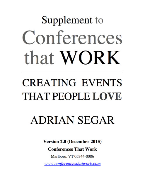 Conferences That Work supplement Version 2 cover