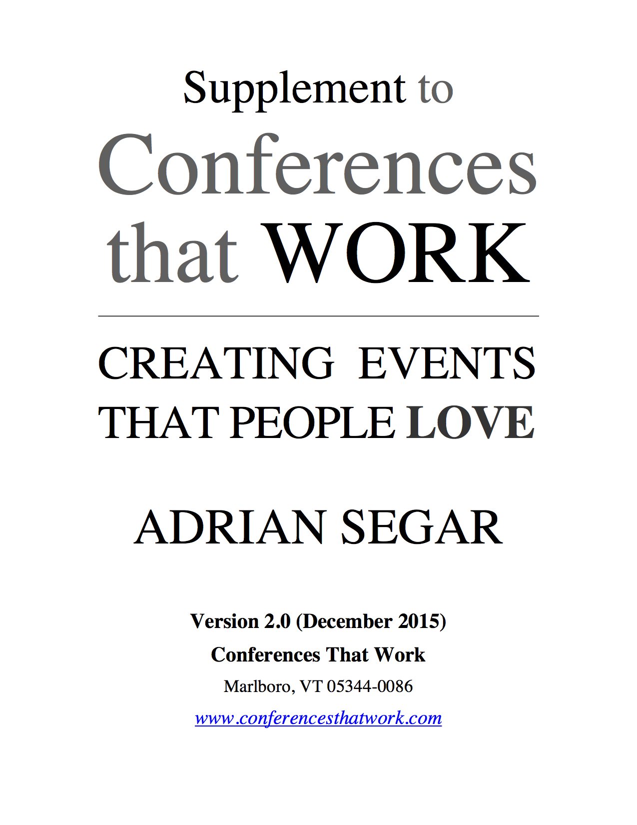 Conferences That Work Free Supplement Pdf Conferences That Work