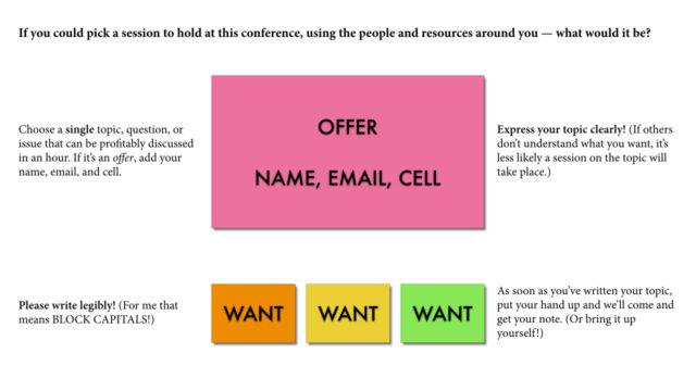 crowdsource a conference program
