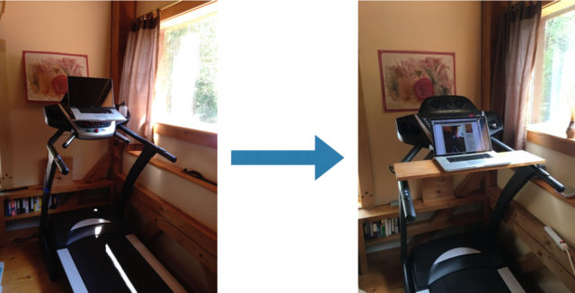 My treadmill desk — the next generation