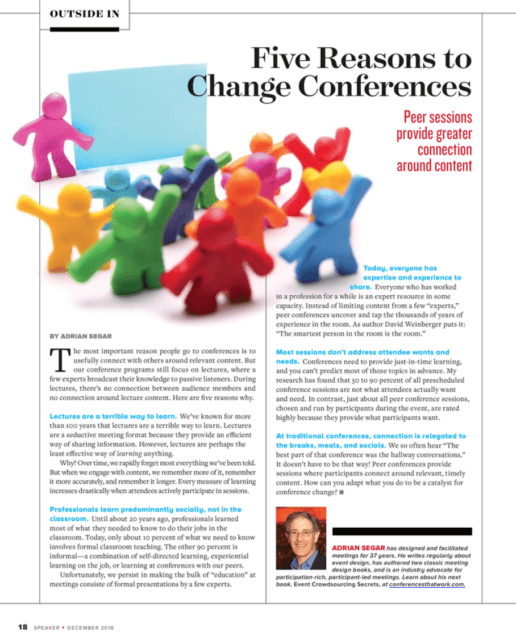 Five Reasons to Change Conferences