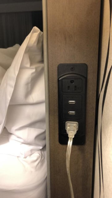 Power in hotel rooms